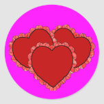 Triple Hearts Sticker