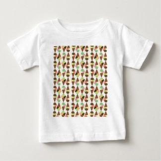 triple icecream pattern baby T-Shirt