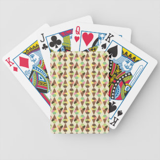 triple icecream pattern bicycle playing cards