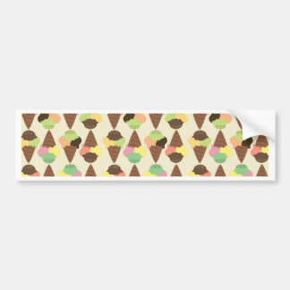 triple icecream pattern bumper sticker