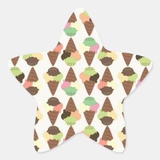 triple icecream pattern star sticker