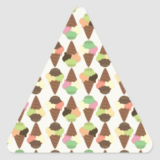 triple icecream pattern triangle sticker