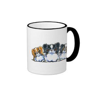 Triple Japanese Chin Coffee Mugs