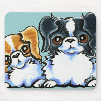 Triple Japanese Chin Mouse Pad