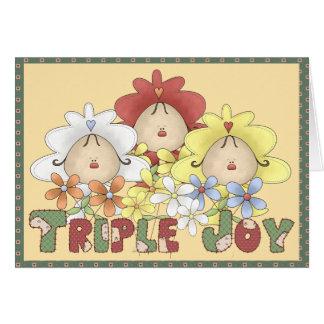 Triple Joy Triplets Cards