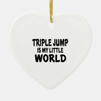 Triple jump Is My Little World Ceramic Heart Decoration