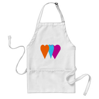 Triple Love Heart Standard Apron