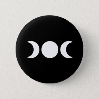 Triple Moon 6 Cm Round Badge