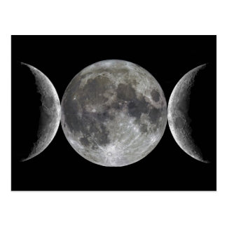 Triple Moon Goddess Postcard