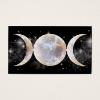 Triple Moon Moonstone Business Card