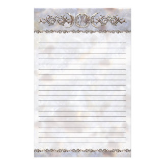 Triple Moon Moonstone Goddess Lined Stationery Paper