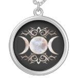 Triple Moon Moonstone Necklace