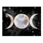 Triple Moon Moonstone Postcard