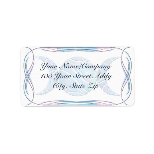 Triple Moon Opal Address Label