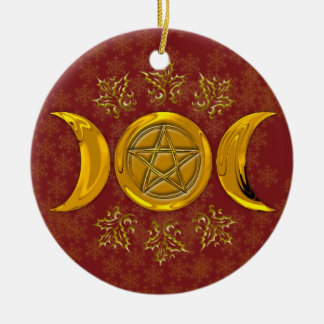 Triple Moon & Pentacle #3 Christmas Ornament