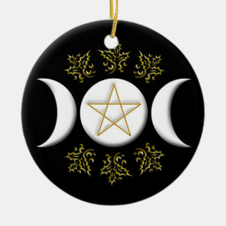Triple Moon & Pentagram #1 New Christmas Ornament