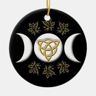 Triple Moon & Tri-Quatra #1 Round Ceramic Decoration