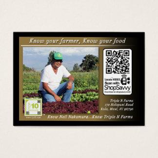 Triple N Farms Traceable Shelftalker Business Card