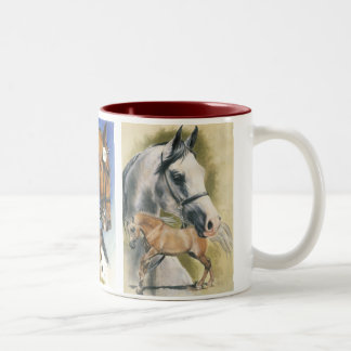 Triple Pleasure Horses Two-Tone Mug