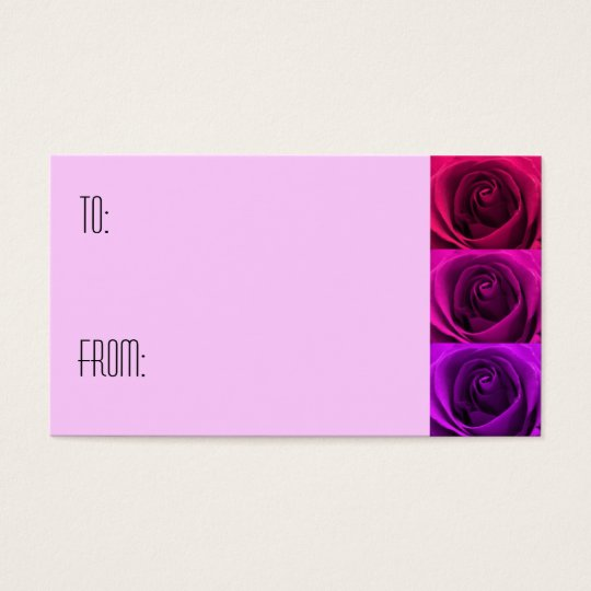 Triple Rose Gift Tag