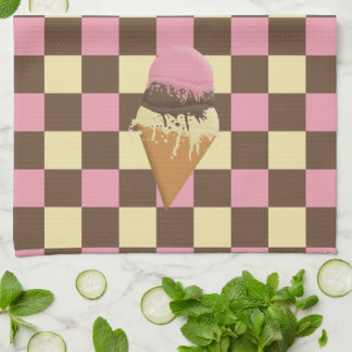 Triple-Scoop Ice Cream Cone Kitchen Towels