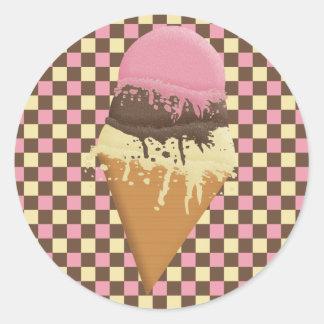 Triple-Scoop Ice Cream Cone Stickers