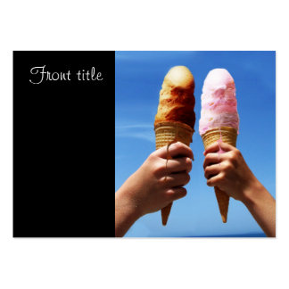 Triple Scoop Ice Cream Cones Large Business Cards (Pack Of 100)