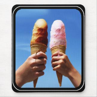 Triple Scoop Ice Cream Cones Mouse Pads