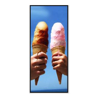 Triple Scoop Ice Cream Cones Customized Rack Card
