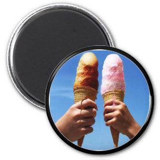 Triple Scoop Ice Cream Cones Refrigerator Magnet