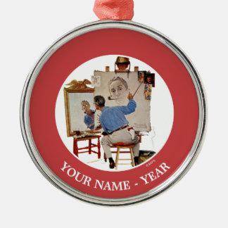 Triple Self-Portrait Christmas Ornament