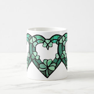 Triple Shamrock Heart Mug
