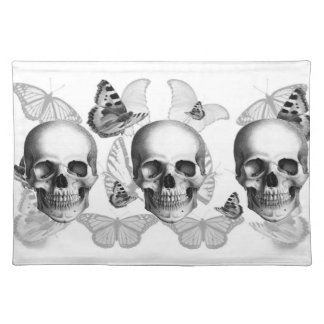 Triple Skull Placement Place Mats