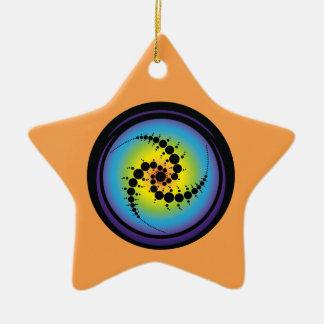 Triple Spiral Crop Circle Ceramic Star Decoration