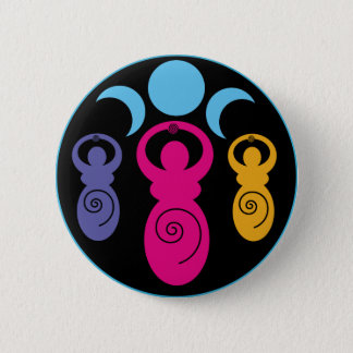 Triple Spiral Goddess 6 Cm Round Badge