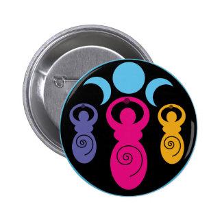 Triple Spiral Goddess 6 Cm Round Badge