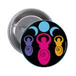 Triple Spiral Goddess Pinback Buttons