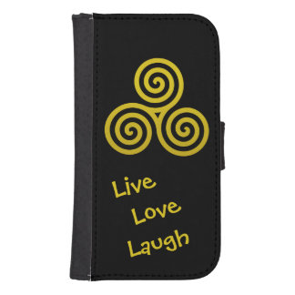 Triple spiral Live Love Laugh Gold