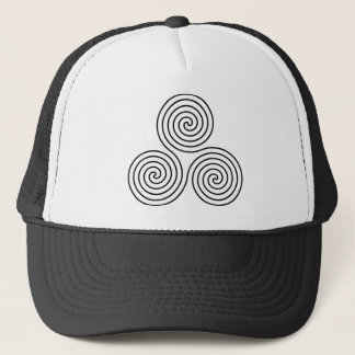 Triple Spiral Symbol Trucker Hat