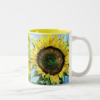 Triple Sunflower Mug