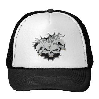 Triple Terror Skulls Trucker Hat