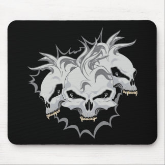 Triple Terror Skulls Mouse Pads