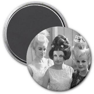 Triple Threat High Hair 7.5 Cm Round Magnet
