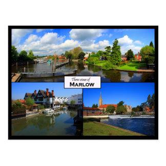 Triple view postcard of Marlow, Buckinghamshire