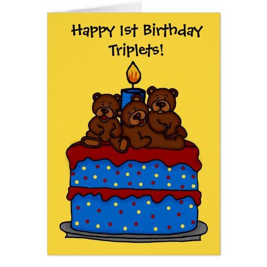 Happy Birthday Cake Triplets