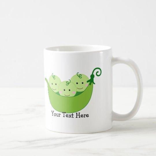 Triplet Pea Pods (customisable) Coffee Mug
