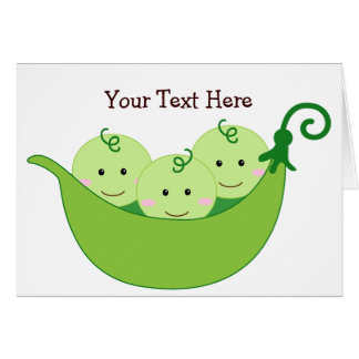 Triplet Pea Pods (customizable) Card
