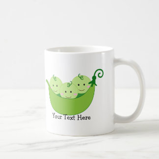 Triplet Pea Pods (customizable) Coffee Mug