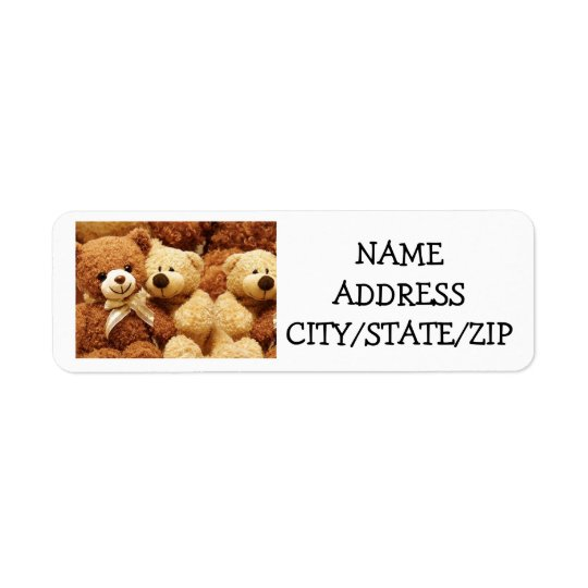 *TRIPLET* TEDDY BEAR FOR TRIPLET'S PARENTS LABELS