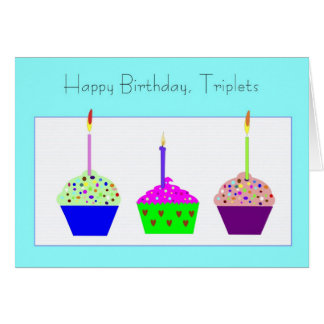 Triplets Birthday  Card